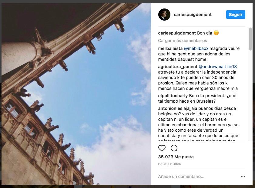 Carles Puigdemont: no estoy en Bruselas para pedir asilo político