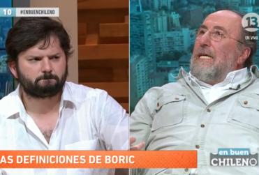 Gabriel Boric le dice en la cara a Sergio Melnick por qué no le parece que sea panelista de TV
