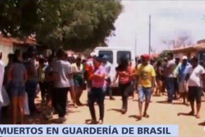 Brasil se estremece por caso de hombre que quemó vivos a niños en una sala cuna