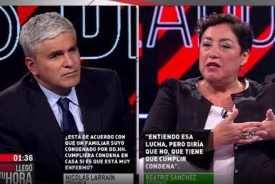 """""""No tengo hombres soplándome en la oreja"""": el tapabocas de Beatriz Sánchez a Nicolás Larraín en TVN"""