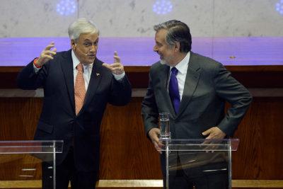 Guillier se abuena con Piñera y le desea un feliz cumpleaños