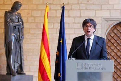 Fiscalía española pide detención de Puigdemont, líder separatista de Cataluña