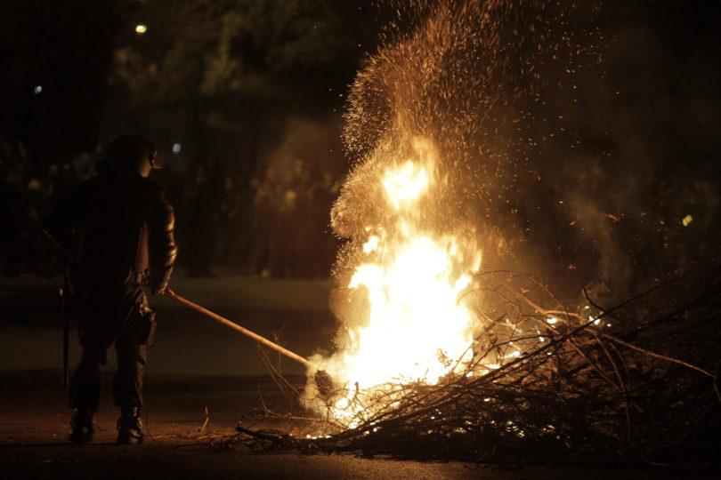 Disturbios marcan el inicio del proceso electoral en La Araucanía