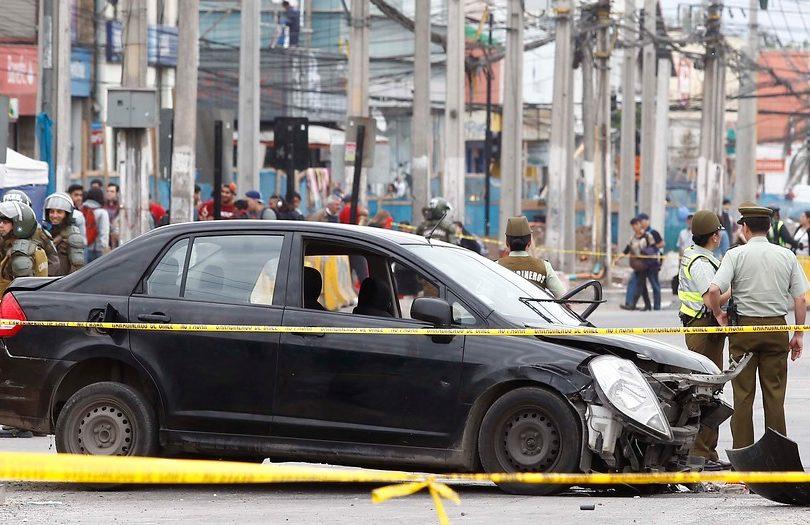 Taxista atropella a carabinero y un civil tras intentar evadir control en Plaza de Maipú