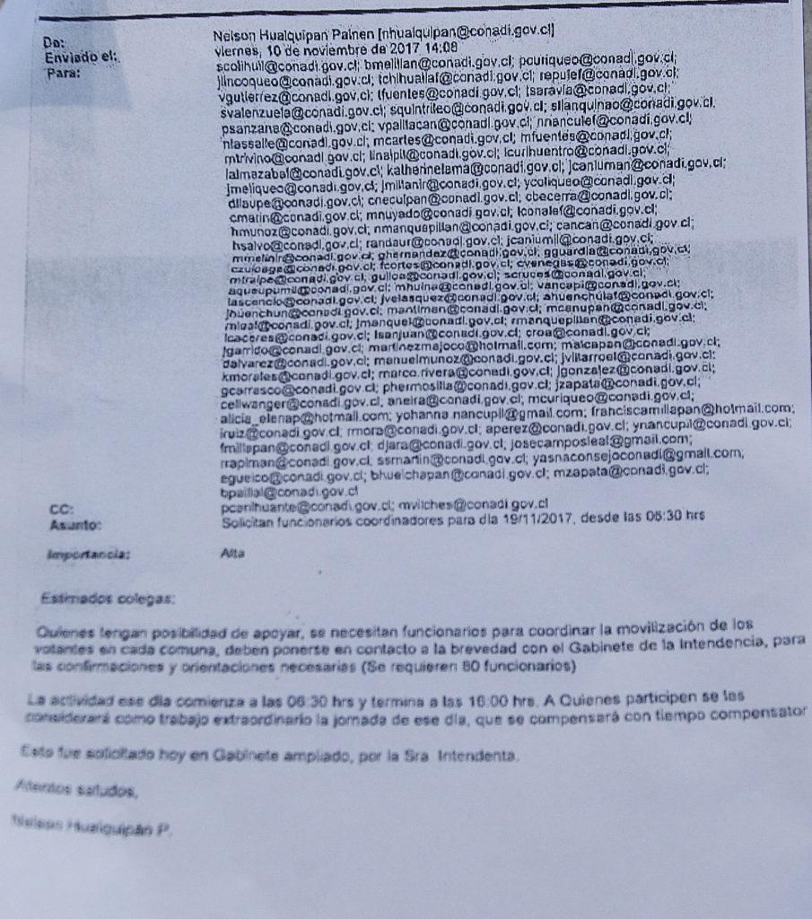 Gobierno descarta intervencionismo electoral en La Araucanía: