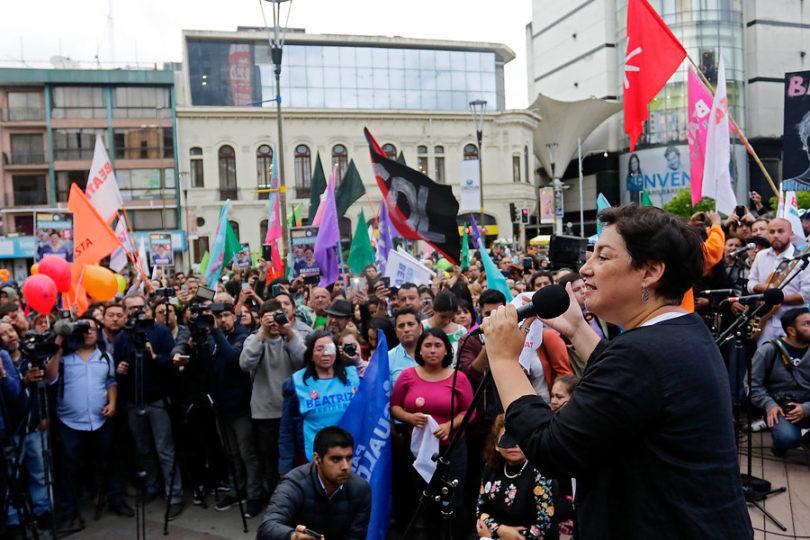Beatriz Sánchez y Alejandro Navarro cerraron sus campañas presidenciales en Concepción