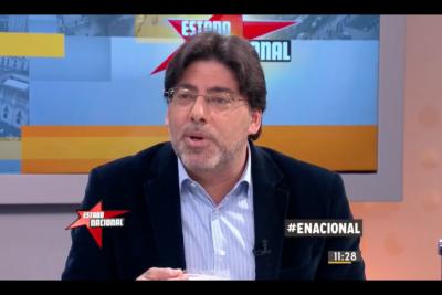 VIDEO | Alcalde Jadue pidió terminar con caricaturas: regaló guagüitas y dejó mute a Gonzalo Müller en Estado Nacional