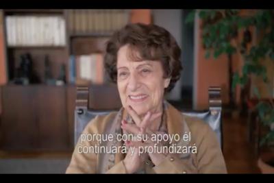 """VIDEO   Ángela Jeria hace llamado para votar por Guillier: """"Él continuará las reformas"""""""