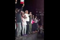VIDEO | El blooper en el cierre de campaña de Piñera que la transmisión no mostró