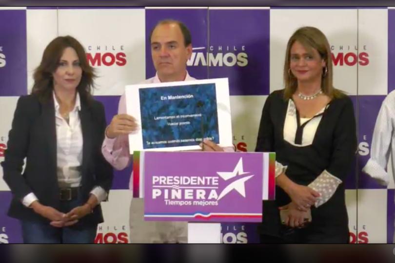 Chile Vamos deja en evidencia la triste página web con el programa de Guillier
