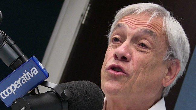 """""""¡Pero déjeme contestarle!"""": el encontrón en vivo de Piñera con Sergio Campos y Verónica Franco"""