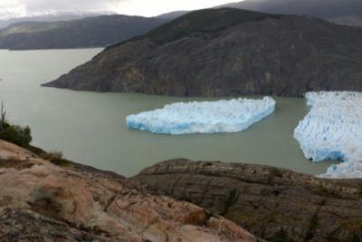 Instituto Antártico Chileno monitorea gran desprendimiento de masa de hielo del Glaciar Grey
