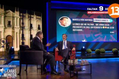 """VIDEO   """"Peor sería un tenista presidente"""": la ácida respuesta de Alejandro Guillier al Chino Ríos"""