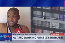 VIDEO | Increíble relato del ciudadano haitiano que recibió en sus brazos a mujer que cayó de noveno piso