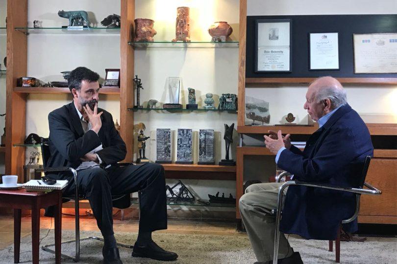 VIDEO |Ricardo Lagos irrumpe en última semana de campaña y hace guiño a la DC con entrevista a Cristián Warnken
