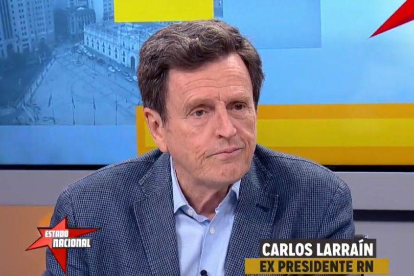 Carlos Larraín sugiere a Piñera tomar distancia de los partidos políticos en caso de llegar a La Moneda