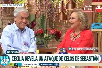 """VIDEO  Sebastián Piñera relata episodio de celos y bromea con """"matar"""" a Cecilia Morel y su acompañante"""