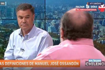 """VIDEO  """"Una especie de UP moderna"""": las definiciones de Manuel José Ossandón sobre del Frente Amplio"""