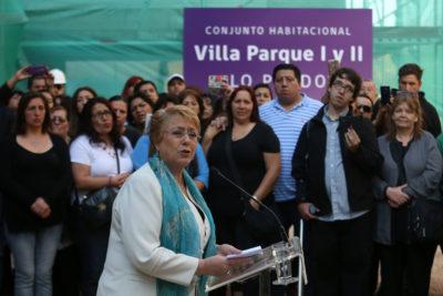 """Bachelet a Chile Vamos por gratuidad: """"Hasta hace pocos días estaban en contra"""""""