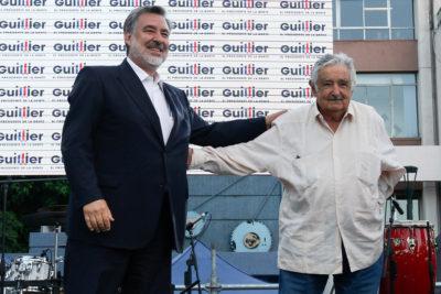 Pepe Mujica acompañó a Alejandro Guillier en su cierre de campaña en Valparaíso
