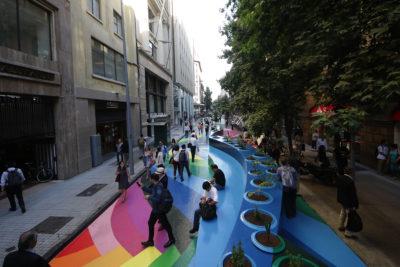 VIDEO |Así luce el nuevo paseo peatonal Bandera en pleno corazón de Santiago