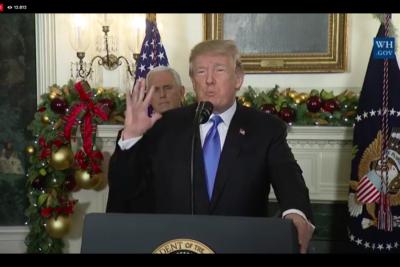 Trump confirma reconocimiento de Jerusalén como capital de Israel y traslada embajada de EEUU