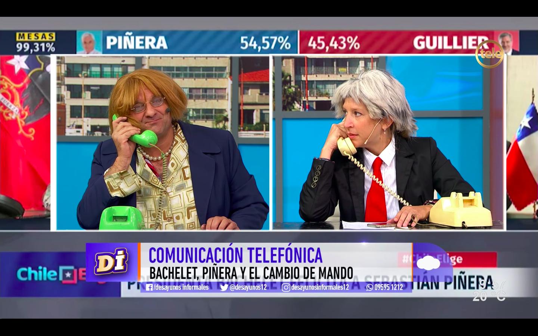 """""""VIDEO   TV uruguaya parodia llamada de Bachelet a Piñera hasta con mención a Perdona Nuestros Pecados"""""""
