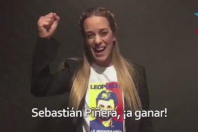 VIDEO | Lilian Tintori entrega su apoyo a la candidatura de Sebastián Piñera