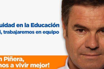 Ossandón se lanza en campaña por Sebastián Piñera poniendo énfasis en la gratuidad