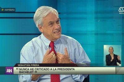 """Piñera y apoyo de Beatriz Sánchez a Guillier: """"Será un candidato controlado por el PC y el Frente Amplio"""""""