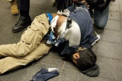 VIDEO | Cámara capta el momento exacto cuando hombre se hace explotar en terminal de buses de Nueva York