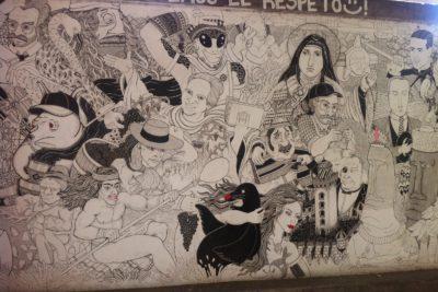 FOTO |Pintan grafiti de brocha gorda sobre el icónico mural de Nueva Providencia con Ricado Lyon