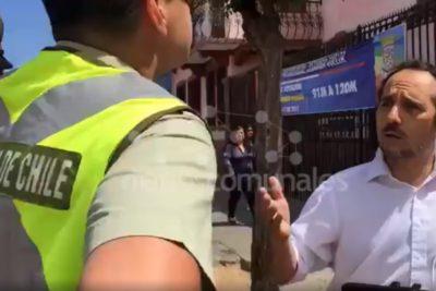 VIDEO | Diputado Daniel Núñez (PC) fue controlado por Carabineros en pleno local de votación