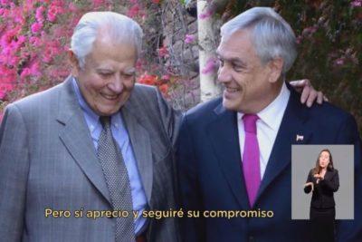 """""""Nunca votó por la derecha"""": la respuesta de hijos de Aylwin a Piñera por usar al ex presidente en la franja"""