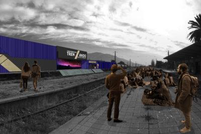 Trenzando, el centro cultural itinerante que recorre el país por las vías del tren