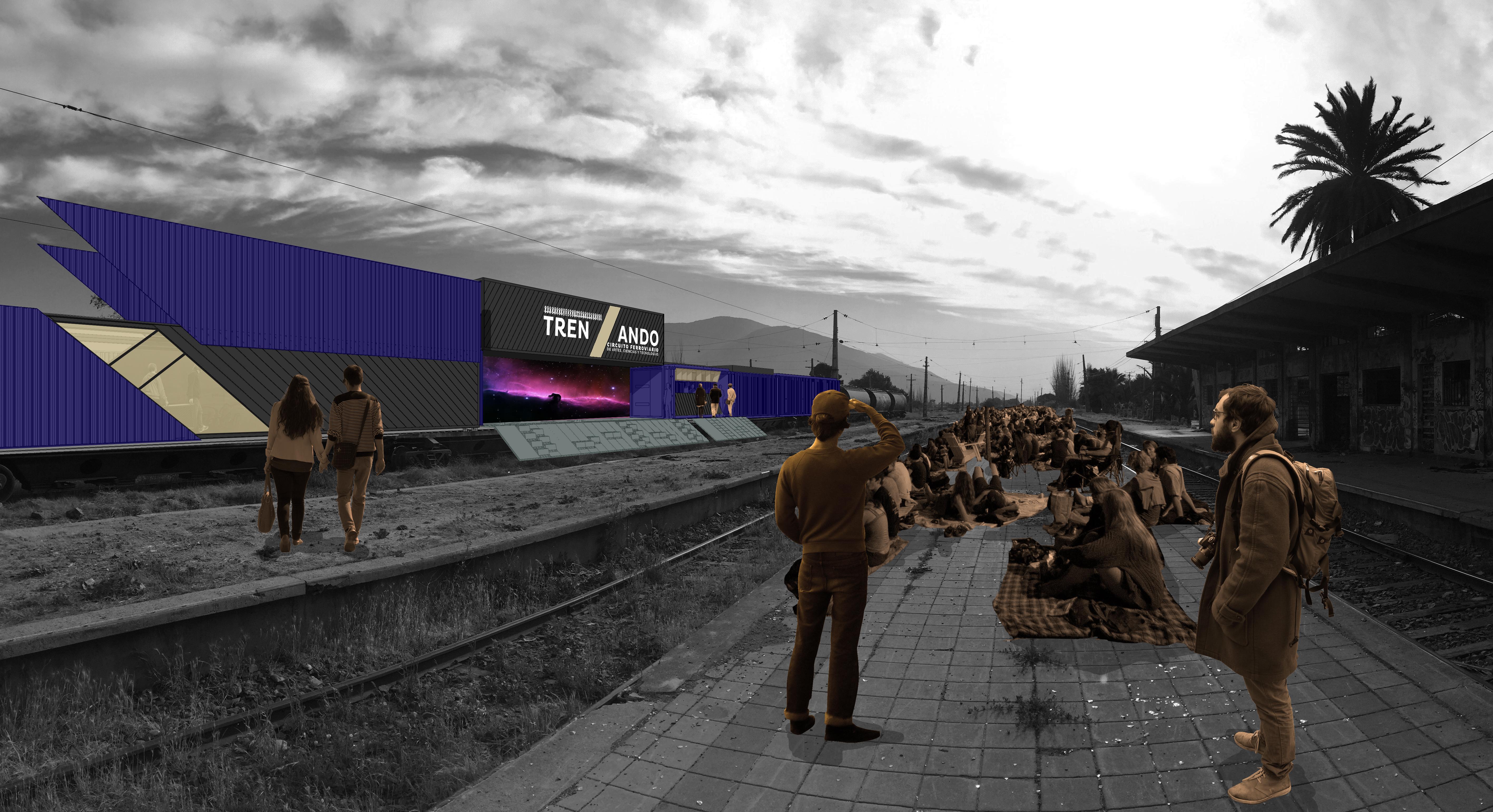 """""""Trenzando, el centro cultural itinerante que recorre el país por las vías del tren"""""""