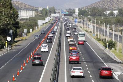 FOTOS |Retorno a Santiago estuvo marcado por la alta congestión en las distintas carreteras