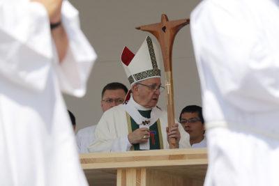 FOTOS   Papa Francisco realiza visita a cárcel de mujeres, la primera en su mandato