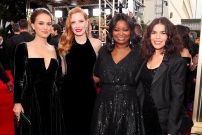 FOTOS | Globos de Oro 2018: actrices y actores llegaron vestidos de negro por casos de acoso en Hollywood