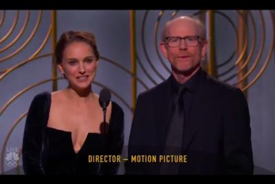 VIDEO  Cómo manifestarse contra el machismo en los Globos de Oro con una sola frase, por Natalie Portman