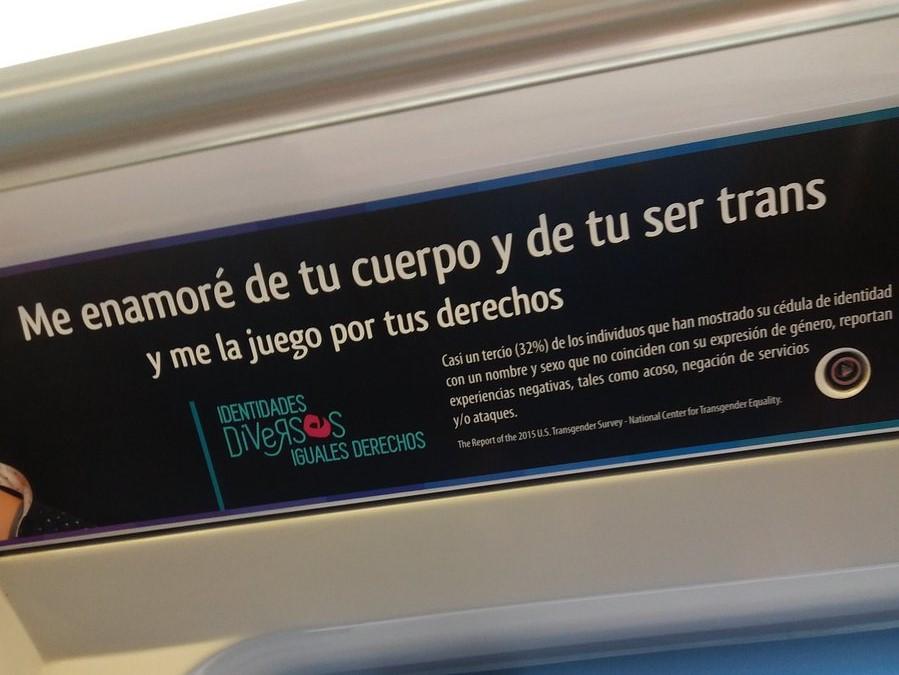"""""""La aplaudida respuesta del Metro de Santiago a pasajero que cuestionó mensaje sobre personas trans"""""""