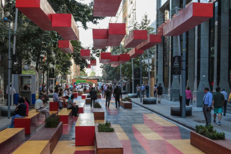 Nuevo Paseo Bandera Santander incorpora efectos de ilusión óptica y mobiliario urbano