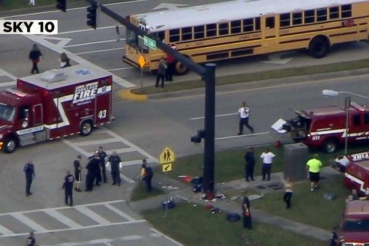 VIDEO | Superó a Columbine: tiroteo en secundaria de Florida deja al menos 17 fallecidos