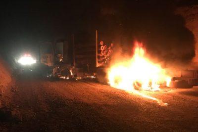 Al menos 22 camiones son quemados en el Biobío y La Araucanía