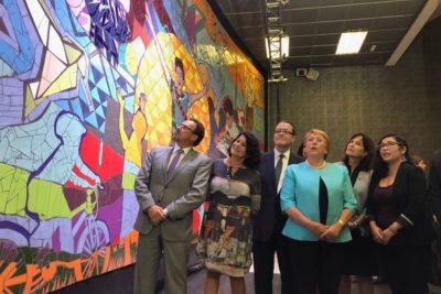 Inauguran mural sobre derechos de los niños, niñas y adolescentes en Estación Bellas Artes