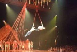 Acróbata de Cirque du Soleil muere en plena función tras caer de las alturas