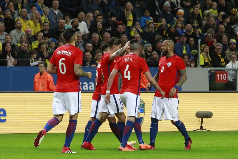 VIDEOS | La alegría duró poco: la corta celebración de Arturo Vidal en amistoso de Chile ante Suecia