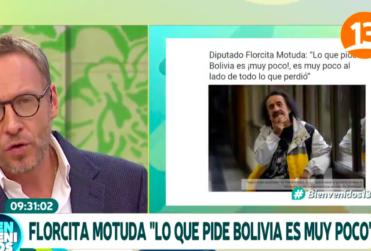 VIDEO | La encerrona en vivo del Bienvenidos a Florcita Motuda por apoyar a Bolivia en demanda marítima