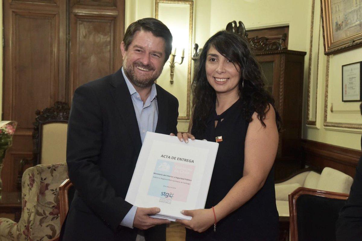 Karla Rubilar asumió como intendenta de la RM