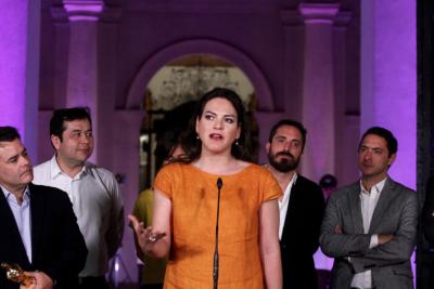 """Daniela Vega en La Moneda:  """"En mi carnet hay un nombre que no es mi nombre""""."""